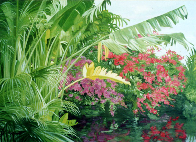 Florida Landscape painting by Maxine Schreiber