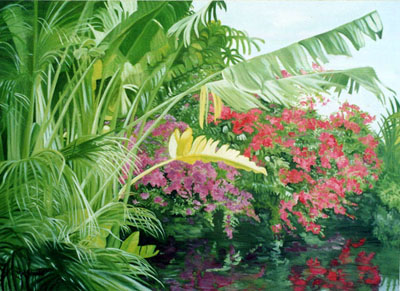 Painting of the Florida Keys by Maxine Schreiber